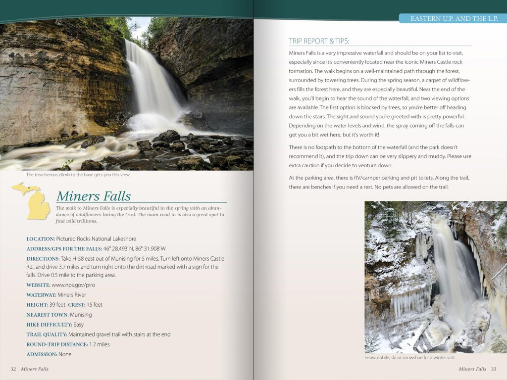 Waterfall guide book