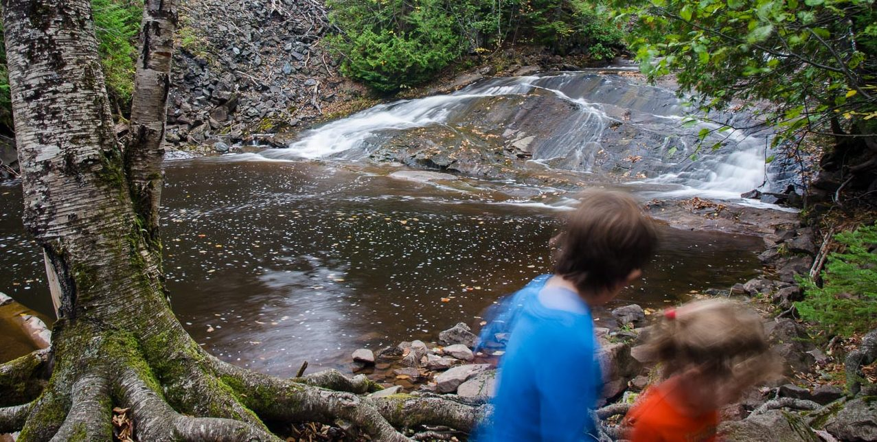 take a kid to Michigan waterfalls
